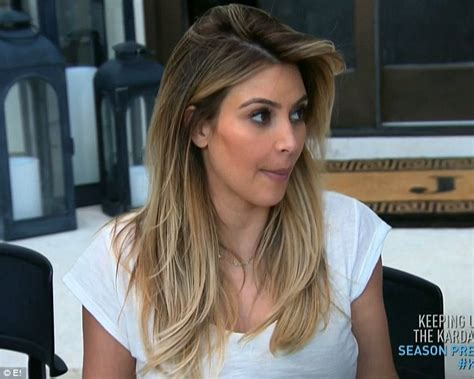 keeping up with the kardashians kim blonde is full time the moment kim kardashian called a family meeting to break