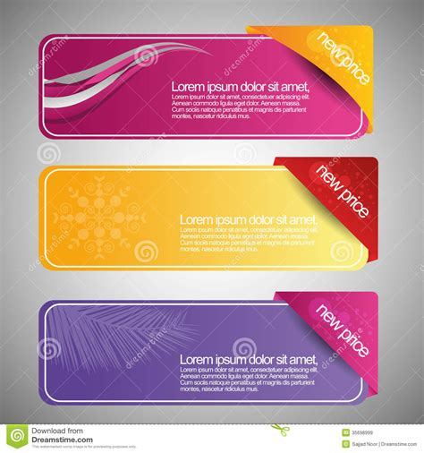 Color Web Banner Template Stock Illustration Illustration Of Abstract 35698999 Web Banner Design Templates