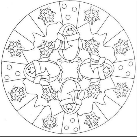 mandala coloring pages winter mandala winter winter kleurplaten