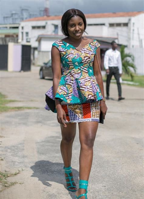 ankara in lagos fashion week ankara street style at lagos fashion and