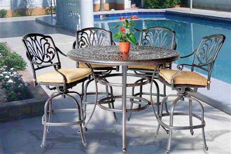 table el patio elizabeth bar set 52 in bar table with