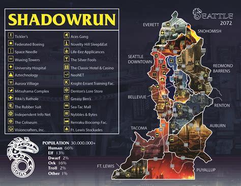 seattle map shadowrun shadowrun 5th edition world map images