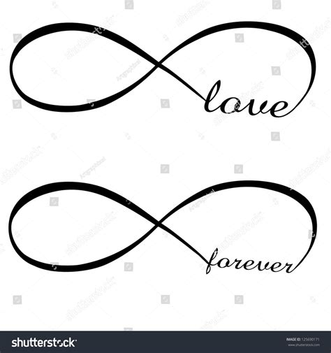 infinity love infinity love forever symbol stock vector illustration