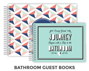Bathroom Guest Sign In Book Guest Book Guest Books Personalized Guest Book Sign In Book