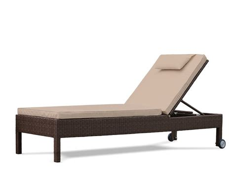reclining garden lounger rio rattan recliner garden sun lounger with wheels