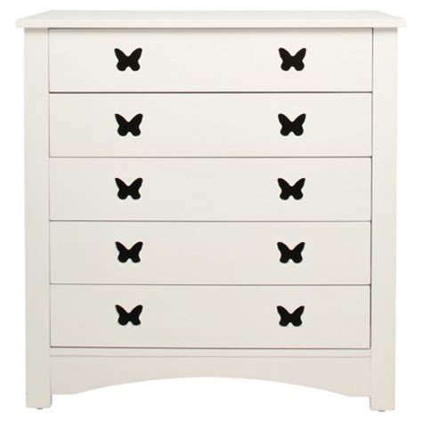 Butterfly Chest Of Drawers by Buy Butterfly 5 Drawer Chest White From Our Chests Of