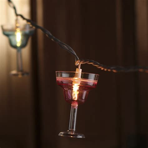 Electric String Lights Margarita Glass Bulb And White Cord String Lights String