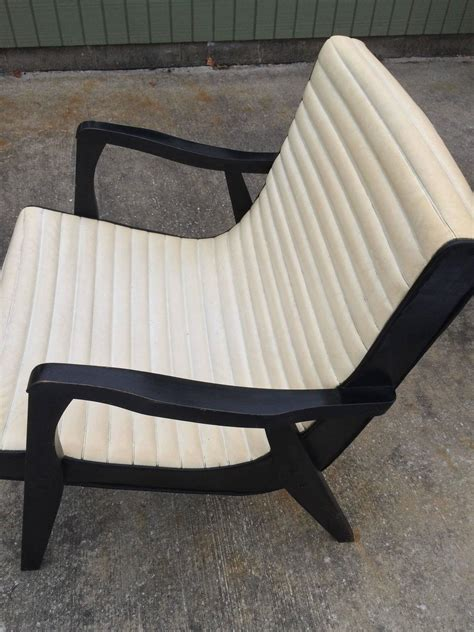 vinyl lounge chairs cheap mid century black and ivory vinyl lounge chair for sale at