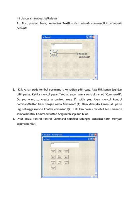 cara membuat query di vb net cara membuat kalkulator sederhana menggunakan visual basic