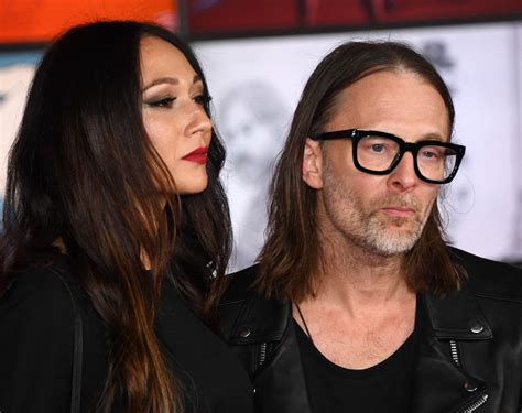 thom yorke and girlfriend dajana roncione at star wars