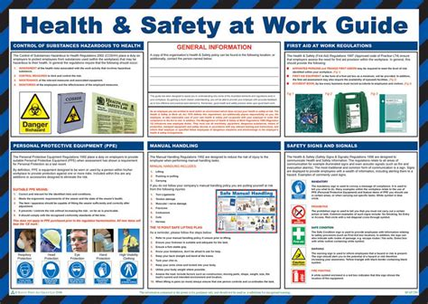 Kitchen Office Organization Ideas by Health And Safety At Work Guide Poster Laminated 59cm X 42cm