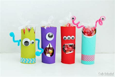 crafts with paper rolls toilet paper roll crafts recycled treat holders