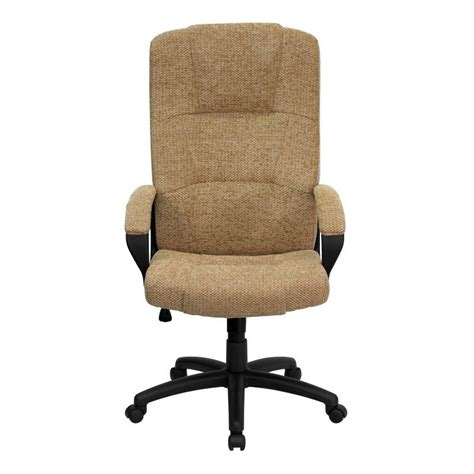 office chair fabric upholstery flash furniture high back beige fabric executive swivel