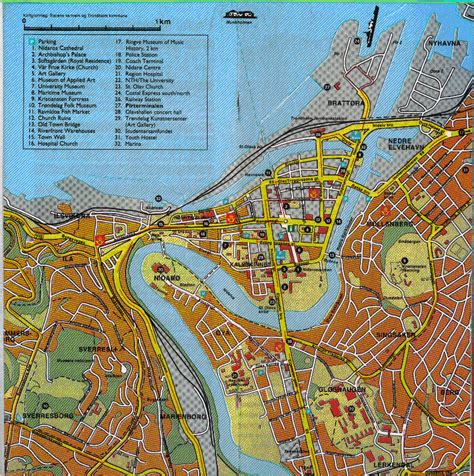 map of city of map of trondheim
