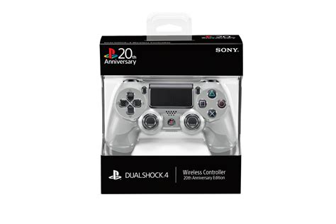 New Stick Ps4 Anniversary 20th Original more images of the 20th anniversary edition dualshock 4 and playstation gold wireless headset