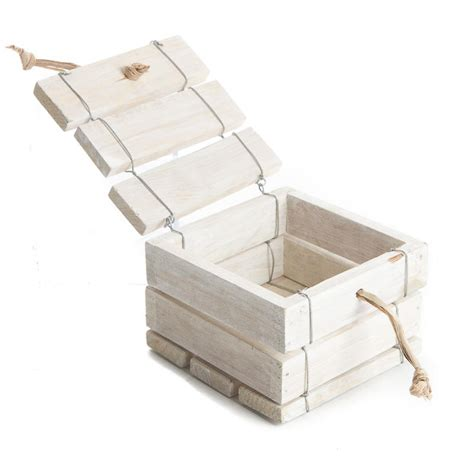 washed wood box l nautical white washed wood box wedding sale sales