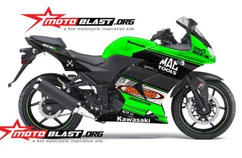 Decal 250 Karbu One modif striping kawasaki 250r karbu green ala wsbk