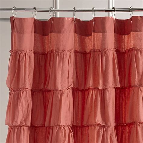 coral orange curtains best 25 coral shower curtains ideas on pinterest