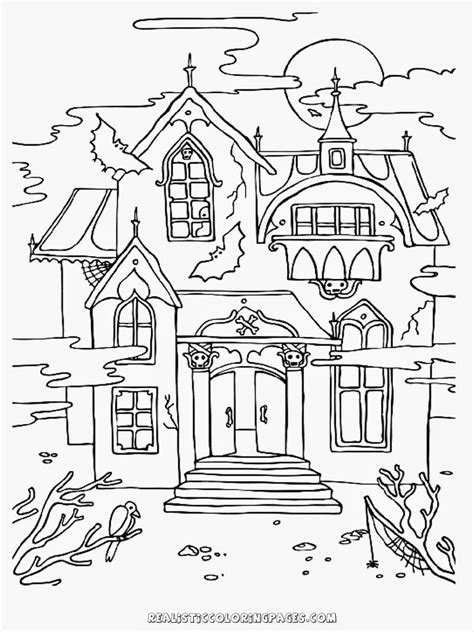haunted house coloring pages free halloween haunted house coloring pages realistic