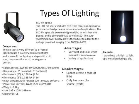 Unit 65 Lighting Ppt Video Online Download Types Of Stage Lighting Fixtures