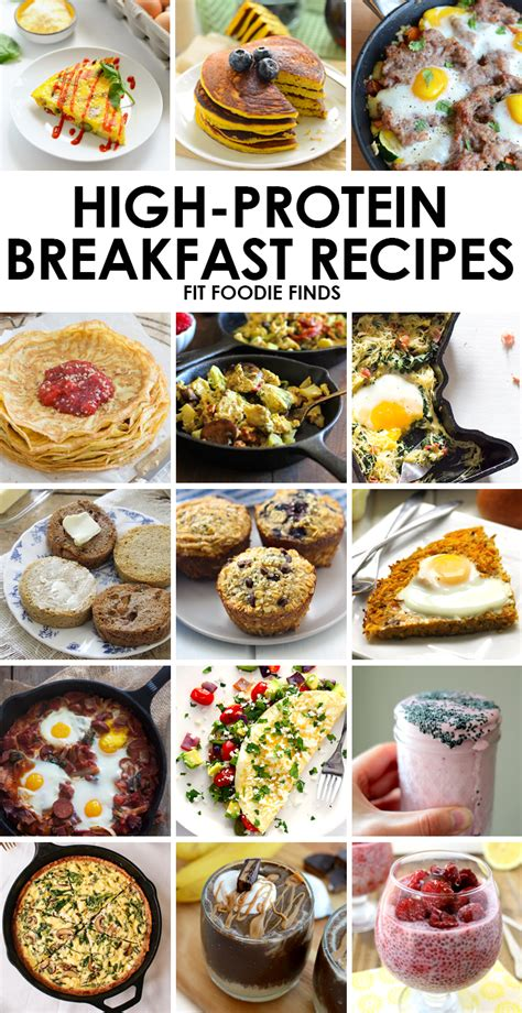 protein for breakfast high protein breakfast recipes fit foodie finds