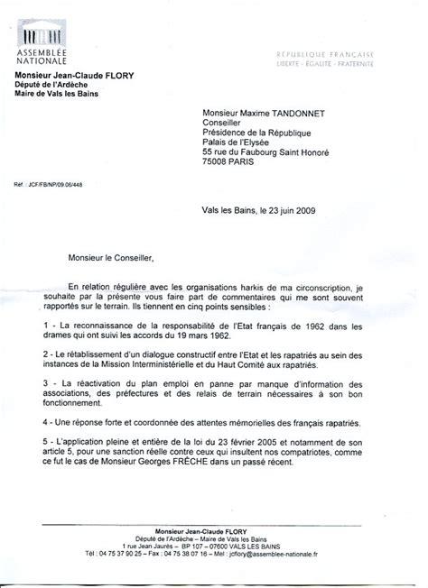 Exemple De Lettre Adressée Au Ministre De L Intérieur President De La Republique