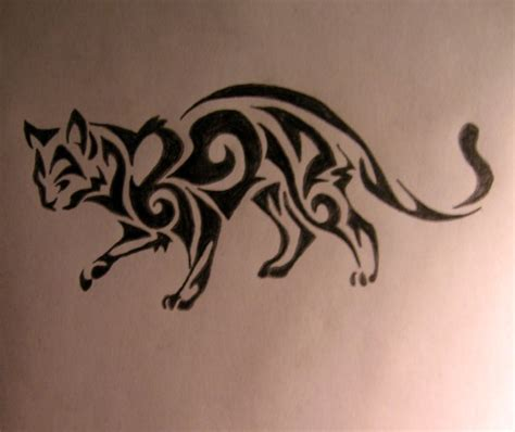 cat tribal tattoo designs 18 best cat tats images on kittens