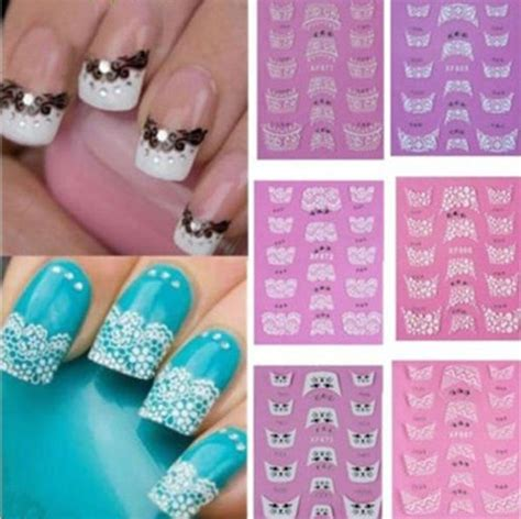 3d Nail Sticker charm 3d transfer lace design nail stickers manicure nail decals tips ebay