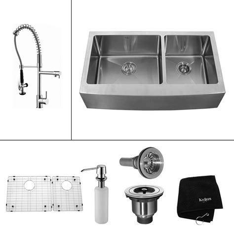 all metal kitchen faucets farmer sink faucets faucets for kraus all in one farmhouse apron front stainless steel 33