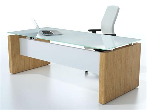 Glass Top Office Desks by Beautiful Office Desk Glass Top Frosted And Computer Also