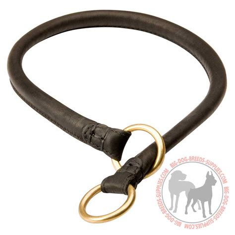 puppy choke collar buy obedience silent leather choke collar
