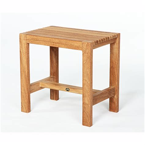 small teak shower bench barrier free