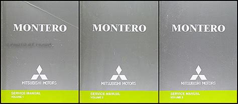 best car repair manuals 2004 mitsubishi montero on board diagnostic system 2004 mitsubishi montero repair shop manual original set