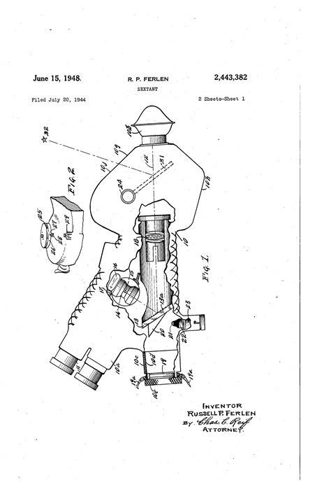 sextant inventor patent us2443382 sextant google patents