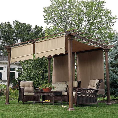 garden winds pergola sears garden oasis deluxe pergola i replacement canopy gf