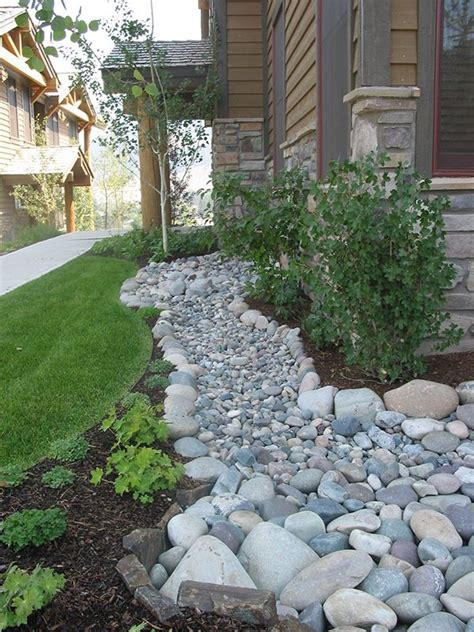 dry creek bed landscaping ideas and erosion decks wood
