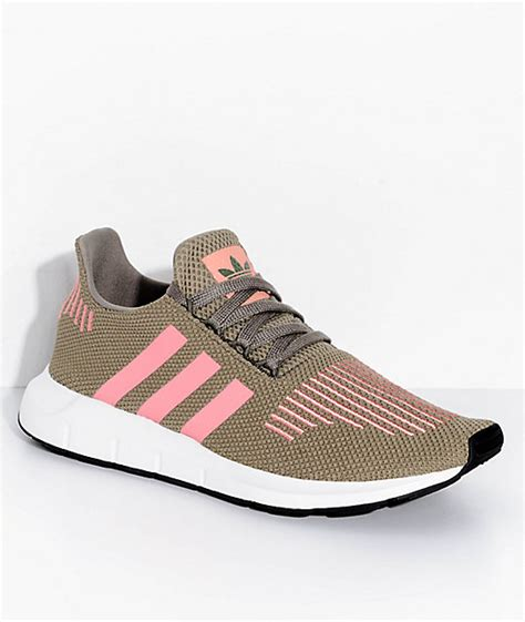 adidas run trace cargo pink shoes zumiez