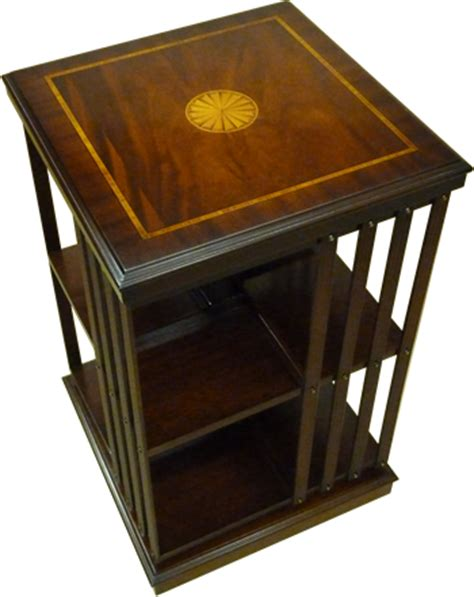 yew and mahogany reproduction revolving bookcase available