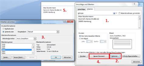 Etiketten Drucken In Word 2013 by Etiketten Erstellen In Word So Funktioniert S Chip