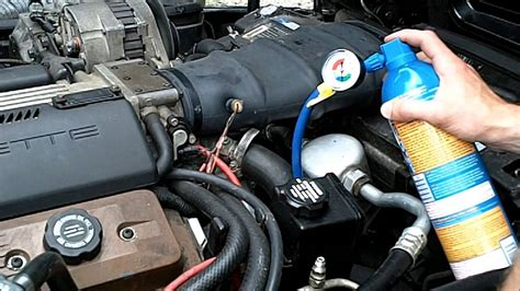 diy  charging car ac system recharging  corvette