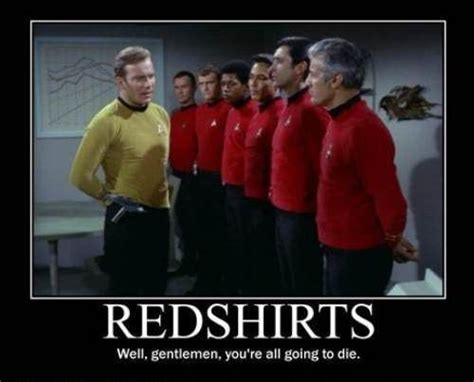 Star Trek Red Shirt Meme - star trek red shirts meme geeky humor and other