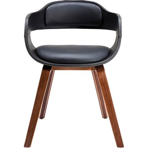 stuhl armlehne chaise en bois costa walnut kare design