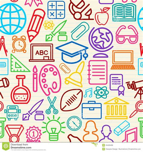 imagenes gratis educacion colorful education seamless pattern background stock