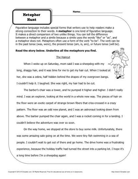 Figurative Language Worksheets 5th Grade by 18 Best Images Of Inferences Worksheets Grade 5