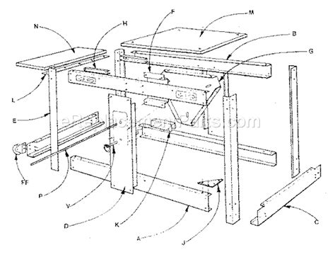 craftsman rotary tool bench craftsman 706655110 parts list and diagram ereplacementparts com