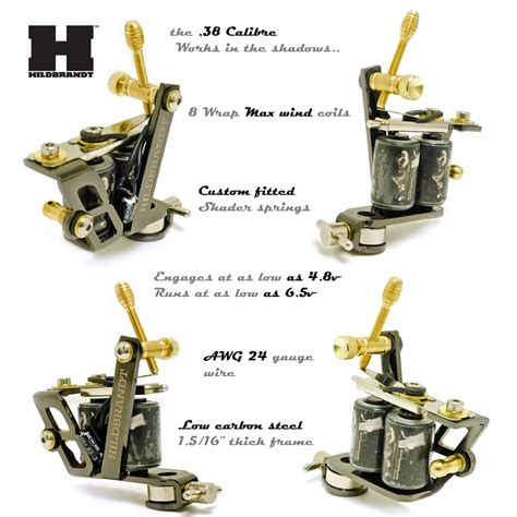 tattoo machine setup hildbrandt tattoo supply 38 caliber tattoo machine gun shader