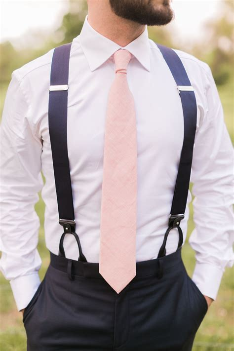 mens wedding attire with suspenders colorful sunset wedding ideas pink groomsmen navy and