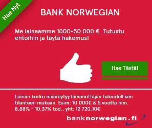bank norwegen bank laina lainaa 1 000 50 000 suoraan pankilta