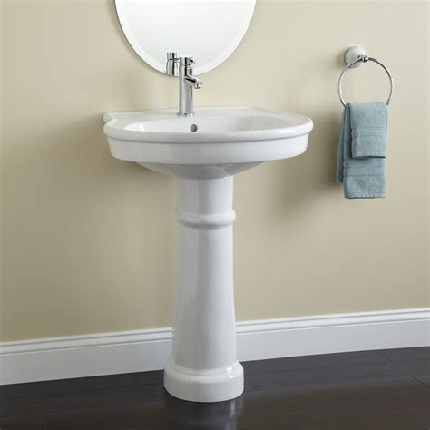 Pedestal Vanity Sink by Therese Porcelain Pedestal Sink Bathroom