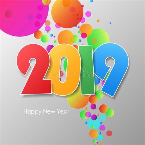 clipart buon anno buon anno semplice 2019 della cartolina d auguri